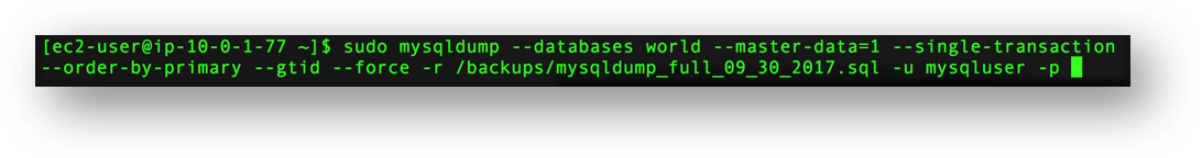 Migrating a MySQL Database to RDS – 1Strategy